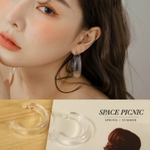 耳環 Space Picnic|透明寬版環狀耳環(現+預)【C20064009】