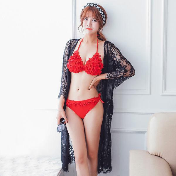 K.J時尚女郎瑪麗黛兒新款泳衣 時尚性感比基尼三件套泳衣 6616-8817