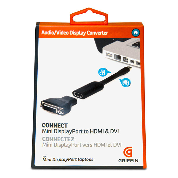 ::bonJOIE:: 美國進口 Griffin Technology Mini DisplayPort to HDMI or DVI 轉接線 GC17096 Video Display Converter