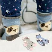 狗兒小貓後腳跟捲邊止滑短筒襪 動物襪 童襪 短襪