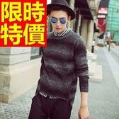長袖毛衣-美麗諾羊毛防寒歐美套頭男針織衫1色63t67【巴黎精品】