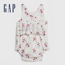 Gap女嬰甜美印花圓領無袖包屁衣580504-光感亮白