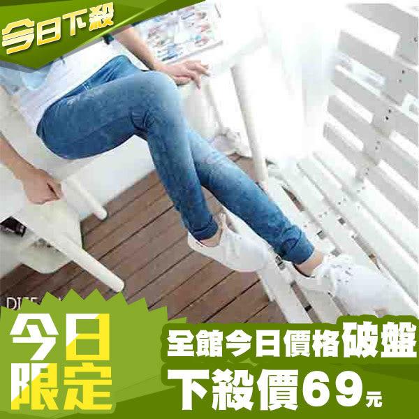 【DIFF】仿牛仔褲 內搭褲 彈性顯瘦 九分褲 緊身褲 打底褲【P02】