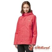 【wildland 荒野】女 輕薄防水高透氣機能外套『珊瑚紅』W3913 戶外 休閒 運動 露營 登山 騎車