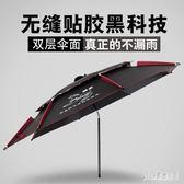 戶外釣魚傘插地2.2/2.4米萬向耐用防雨防曬折疊釣傘太陽傘遮陽傘 PA3785『pink領袖衣社』