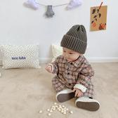 ins嬰兒服冬裝保暖寶寶爬爬服夾棉幼兒連體棉衣加厚哈衣 新年特惠