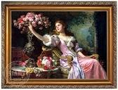 歐式人物手繪油畫 手繪歐式油畫客廳 古典人物手繪油畫0716 萬聖節鉅惠