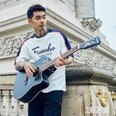 單板民謠吉他初學者學生女男新手入門練習木吉他40寸 ZM4744【艾菲爾女王】TW