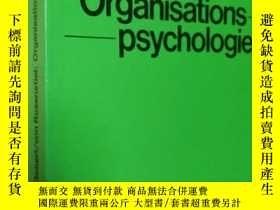 二手書博民逛書店德文原版罕見組織心理學organisationspsychologie: Person Organisation