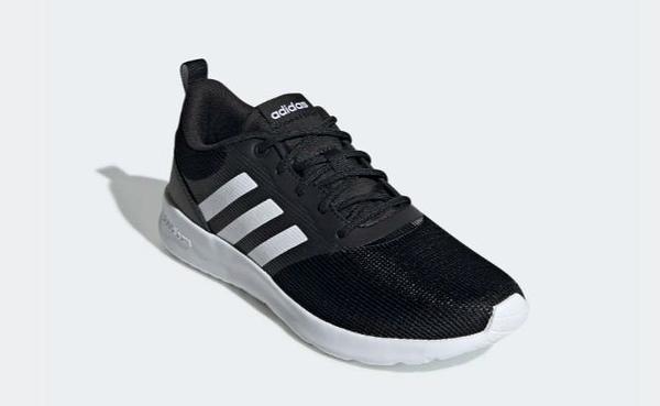 Adidas-QT RACER 2.0女款黑白透氣緩震慢跑鞋-NO.FV9529