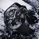 LONGINES 浪琴 深海征服者浪鬼陶瓷潛水機械錶-陶瓷黑/43mm L37844569