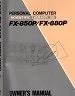 二手書R2YB《FX-850P/FX-880P OWNER S MANUAL B