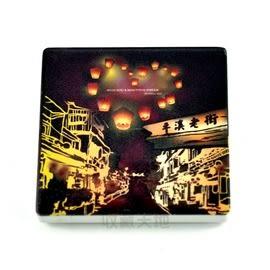 【收藏天地】台灣紀念品*陶瓷杯墊冰箱貼-天燈老街