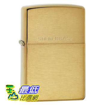 [104 美國直購] Zippo Lighter Solid brass with brushed finish 打火機