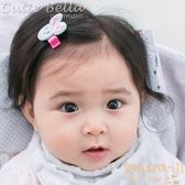 Cutie Bella粉花小兔全包布手工髮夾-Bunny
