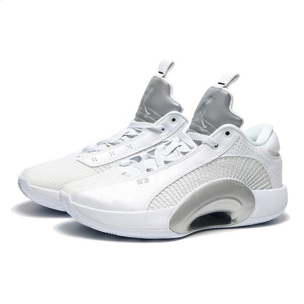 NIKE 籃球鞋 JORDAN 35 LOW PF 白 編織 金屬銀 男 (布魯克林) CW2459-100