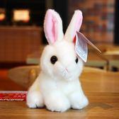 小白兔子毛絨玩具仿真兔公仔兔兔玩偶布娃娃兒童節日生日禮物