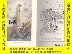 二手書博民逛書店1925年倫敦出版查爾斯·羅賓遜著《ONCE罕見ON A TIM