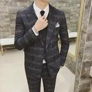 找到自己品牌 韓國男 時尚經典修身帥氣格紋 小西裝 修身西裝 西裝外套 單件外套
