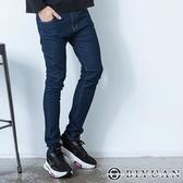 【OBIYUAN】素面牛仔褲 不敗單寧色 彈性 牛仔長褲【HK5003】