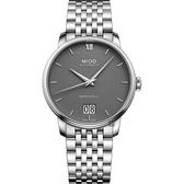 MIDO美度 BARONCELLI 永恆系列 III 大日期機械錶-灰x銀/40mm M0274261108800