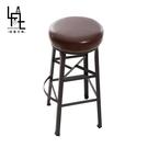 【多瓦娜】微量元素-手感工業風美式吧台椅-HF40-3