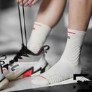 籃球襪男運動襪子高幫中筒實戰毛巾底專業長筒精英襪【左岸男裝】