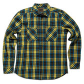Deus Bundy 經典格紋長袖襯衫-黃藍