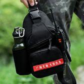 胸包男士單肩包男戶外運動迷彩特種兵戰術多功能腰包彈弓包斜挎包
