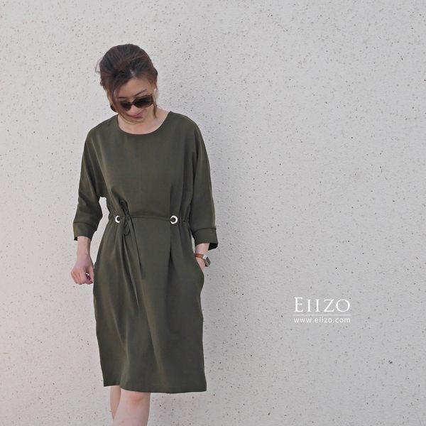 【EIIZO】涼感舒適都會風洋裝(墨綠)