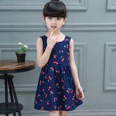 女童夏裝連身裙2018新款5兒童裙子4夏季8公主裙7純棉3寶寶6歲
