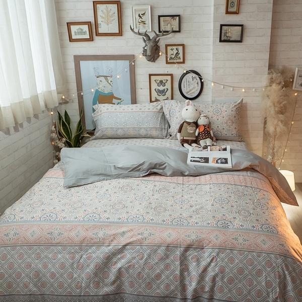 青花瓷 K3 King Size床包與雙人鋪棉兩用被四件組 100%精梳棉 台灣製