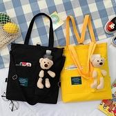 補習袋小學生美術袋兒童包包百搭側背斜背包女童休閒補課手提袋 韓國時尚 618