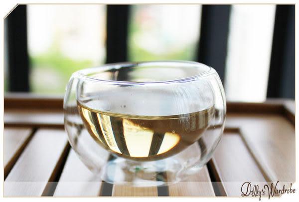 ☆Dolly生活館*╮功夫茶具 手工耐熱透明雙層玻璃杯/品茗杯/小茶杯 20928