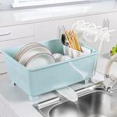 放碗柜塑料帶蓋瀝水架家用碗架裝碗筷收納箱~
