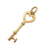 Tiffany & Co 蒂芬妮 簍空愛心鑰匙墜飾 Heart Key Top K18YG 【BRAND OFF】