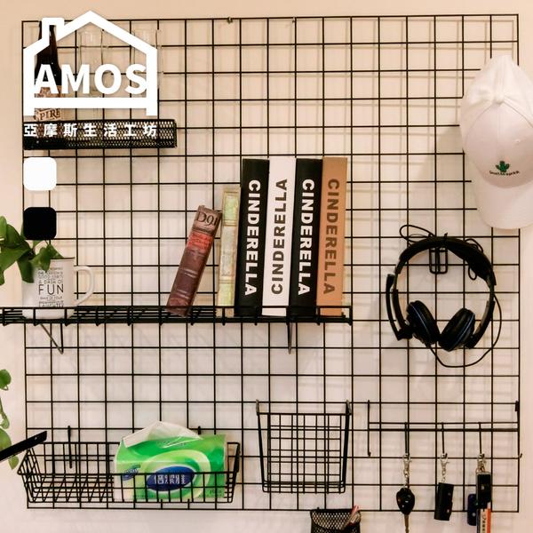 網格架 文青必備  照片牆【WCW017】北歐風牆面裝飾收納架 A組 Amos 台灣製