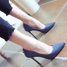 尖頭高跟鞋 女漆皮OL單鞋【多多鞋包店】z1215