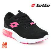 【LOTTO】女款 氣墊慢跑鞋 -黑粉色 (L6620)全方位跑步概念館
