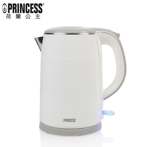 【南紡購物中心】PRINCESS|荷蘭公主 1.5L不鏽鋼防燙快煮壺/白 236070
