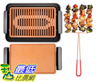 [8美國直購] 無煙電烤架 GOTHAM STEEL Smokeless Electric Grill Griddle and Pitchfork, Indoor BBQ and Nonstick