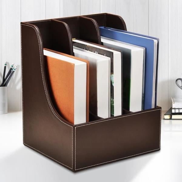 文件架 收納架 辦公三層桌面文件架子多層 資料框文件夾收納盒座筐欄檔案置物架