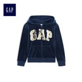 Gap女童 Logo連帽長袖外套 512250-墨青