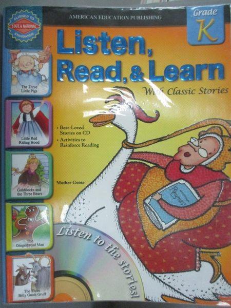 【書寶二手書T3/兒童文學_XDM】Listen, Read, and Learn With Classic Stori