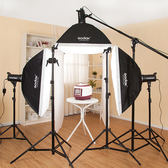 神牛400w攝影燈拍照燈淘寶服裝人像靜物攝影棚補光影室閃光燈套裝 igo  CY潮流站