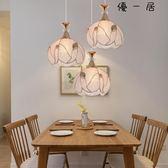 餐廳吊燈現代工業風三頭臥室燈過道燈具