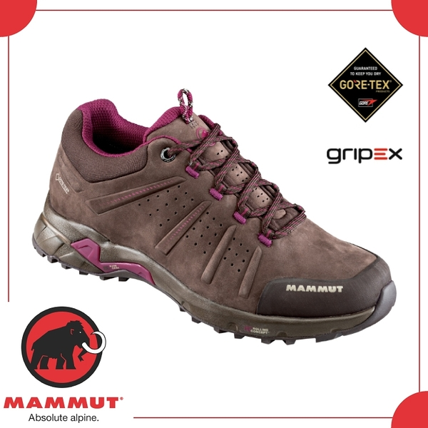 【MAMMUT 女 Convey Low GTX《 咖啡》】3030-03230-7431/健行鞋/登山鞋/防水/透氣