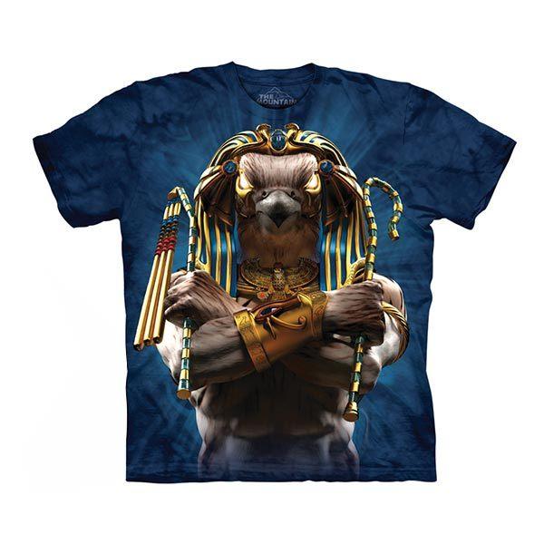 【摩達客】(預購)美國進口The Mountain 埃及鷹戰士 純棉環保短袖T恤(10415045102)