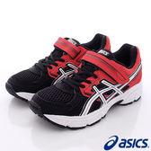 【ASICS】運動童鞋-日本雙色黑紅透氣運動款-C564N-9001-中童-0