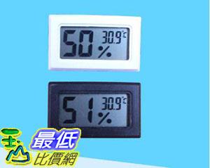 [107玉山最低比價網] 溫濕度計 溫度計 濕度計 黑白兩色 小型 電子 數字式 電池 顏色隨機 _W03
